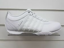 MENS K-SWISS ARVEE 1.5 ALL WHITE LEATHER TRAINERS *SIZE UK 9 ONLY* (02453-912-M)