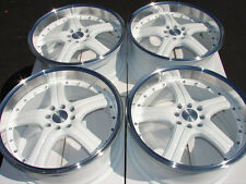 18 4x100 4x114.3 White 4 Lug Wheels Fits Civic Scion Xa Xb Cobalt Elantra Rims