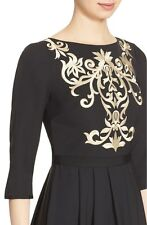 NEW 2016 TED BAKER  Metallic Embroidered Bodice Dress RRP £179.00 1 2 3 4 5