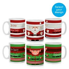 PERSONALISED CHRISTMAS MUG CUP SANTA OR ELF SECRET SANTA STOCKING FILLER GIFT