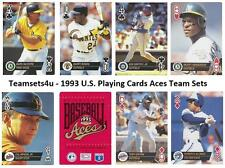 1993 US Playing Card Aces Baseball Team Sets ** Pick Your Team Set **