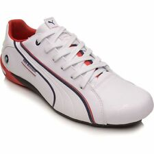 PUMA BMW NYTER MENS SHOES NEW -  WHITE / BLUE / RED