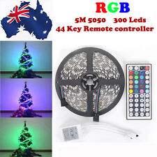 RGB 5050 SMD Flexible LED Strip Light Lamp Christmas + 44 Key IR + Power Adapter