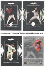 1994 Leaf Limited with Rookies Baseball Team Sets ** Pick Your Team Set **
