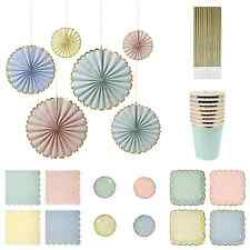 Pastel Party Plates, Cups, Napkins, Party Bundle,Wedding/Baby Shower/Birthday
