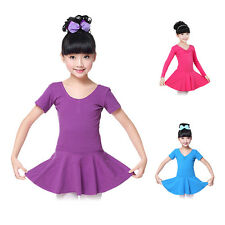 Kids Girls Party Ballet Dancewear Tutu Skirt Dress Gymnastics Leotard Costume