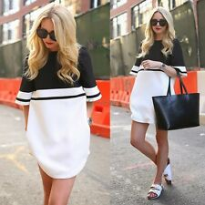 New Sexy Women Summer Casual Crew Neck Party Evening Cocktail Short Mini Dress