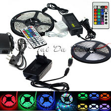 5M 10M 15M SMD 3528 5050 5630 300LEDs RGB White LED Strip Light 12V Power Supply