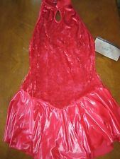 NEW LEO'S DANCEWEAR Women's SIZE EXTRA LARGE RED DANCE FIGURE SKATING DRESS