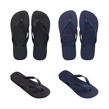 New Original Havaianas Top Flip Flops Black Blue Beach Sandals Men All Sizes NIB