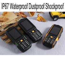 IP67 Outdoor Waterproof Dustproof Shockproof Rugged old men Mobile Phone Cell 2G