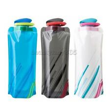 750mL Foldable Water Bottle Bag for Outdoor Sports Cycling Camping BPA Free