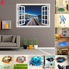 DIY Removable Lakes Star Window Art 3D Wall Stickers Home Room Decal Decor Mural
