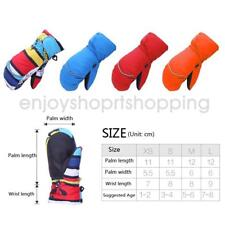 Kids Winter Windproof Waterproof Ski Snow Mittens Boys Girls Thermal Gloves