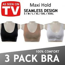 3  Maxi hold  ™  Top Seamless Sports Style Bra Comfort Stretch Bras Shapewear