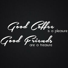 WALL QUOTES GOOD COFFEE FRIENDS WALL DECAL STICKERS  KITCHEN BEDROOM ART QUOTE
