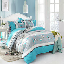 Boy Blue Twin Double Queen King Bed Set Pillowcases Quilt Duvet Cover Ous