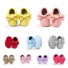 Baby Moccasin Boy Girl Soft Sole Leather Tassel Shoes Toddler Infant Crib Shoes