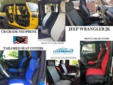 Coverking CR-Grade Neoprene Front and Rear Seat Covers for Jeep Wrangler JK