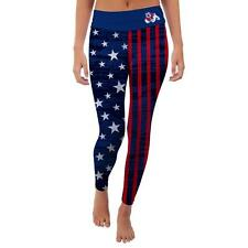 Fresno State University Bulldogs Womens Yoga Pants Vintage American Flag  Design