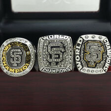 3pcs 2010 2012 2014 San Francisco Giants World Series Championship Ring 8-14Size