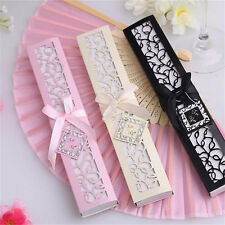 Top  Ivory Bridal Chinese Bamboo Silk Hand Fan Wedding Favors Guests Gifts