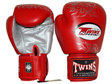 Twins Special Muay Thai Kick Boxing MMA K1 Leather Boxing Gloves FBGV-6 S Red