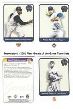 2001 Fleer Greats of the Game Baseball Team Sets ** Pick Your Team **
