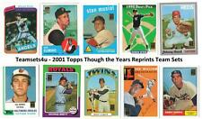 2001 Topps Though the Years Reprints Baseball Team Sets ** Pick Your Team Set **