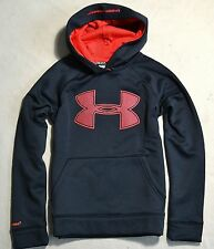 NWT BOYS YOUTH UNDER ARMOUR RED BLACK PULLOVER HOODIE JACKET COAT SZ SMALL