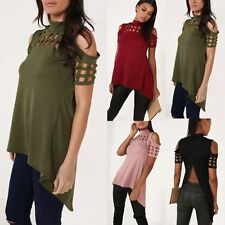 Fashion Womens Ladies Short Sleeve Shirt Casual Blouse Loose Cotton Tops T Shirt