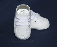 New Baby Infant Boys Christening Baptism Dedication White Dress Shoes Booties