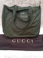 BNWT Authentic Gucci Viaggio Leather Duffle Bag Olive Green Special Edition