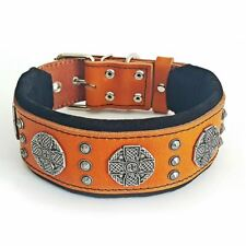 "Bestia ""Maximus"" leather dog collar. L to XXL. Large breeds only. 2.5 `` wide"