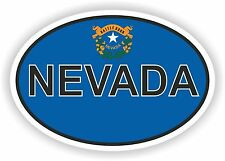 NEVADA STATE OVAL FLAG STICKER USA/ Car Phone Window Wall Vinyl Sticker Decal