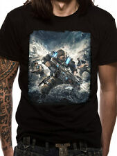 OFFICIAL GEARS OF WAR 4 COVER PRINT BLACK T-SHIRT (BRAND NEW)