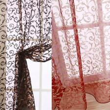 Home Window Voile Sheer Curtain Balcony Tulle Panel Room Divider Drape Valance