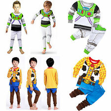 Kids Cosplay Woody Sleepwear Nightwear Tops + Pants Outfits Set Clothes Pajamas