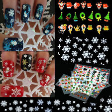 12 Sheet Christmas Snowflake Tree Nail Art Stickers Decal Tips Decoration Set#t8