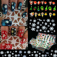 12 Sheet Christmas Snowflake Tree Gift Nail Art Sticker Tips Decoration Decal
