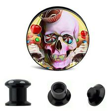 Buffoon Skull Ear Acrylic Tunnel Expander Ear Plug Stretcher Gauge Piercing Kits