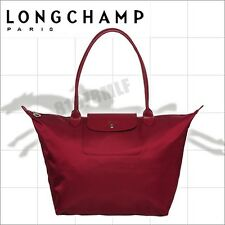 Longchamp 1899 Womens Le Pliage Neo Nylon Tote Handbag Bag Color Wine
