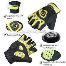 Womens Men Fingerless Cycling Riding Gloves Half Finger Less Silicone Gel Palm