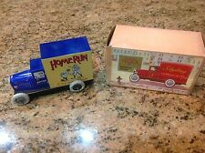 Vintage Schylling tin truck in Orig Box = HOME  RUN  CHEWING  GUM = Collector TR