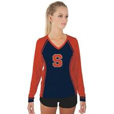 Syracuse University Orange Womens Long Sleeve V-Neck Shirt Edge  Design