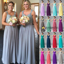 New Stock Long Formal Party Prom Ball Gown Evening Wedding Bridesmaid Dress 6-18