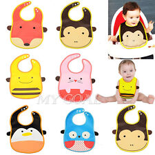 Baby Kids Cartoon Animal Toddler Bibs Waterproof Saliva Apron Towel Feeding