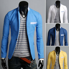 Stylish Formal Mens Men Slim Fit One Button Suit Blazer Business Coat Jacket 3s