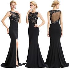 Long Formal Bridesmaid Evening Prom Dress Wedding Gown Applique Cocktail Party