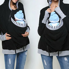 Women Splicing Removable Mommy Babies Pocket Pullover Top Plus Size Outwear
